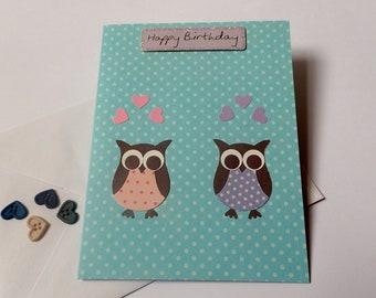 Handmade owl birthday card owl birthday card birthday card etsy handmade owl birthday card greeting cards homemade birthday card birthday cards owl greeting card owl card paper craft cards m4hsunfo