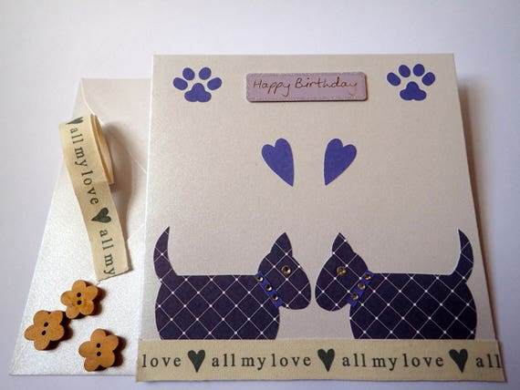 Handmade Dog Birthday Card Cards Lovers