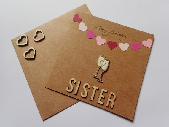 Personalised Handmade Special Sister Birthday Card