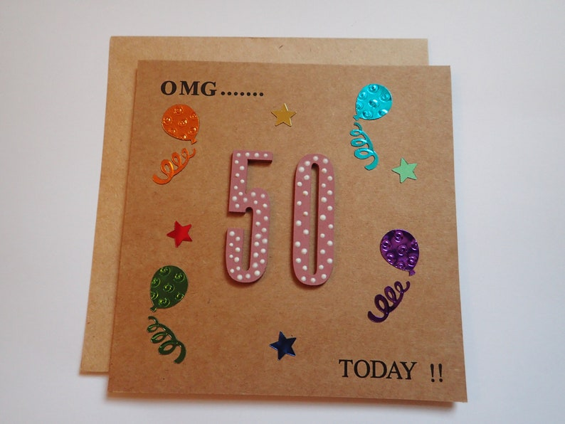 Birthday Cards Handmade 50th Card Greeting