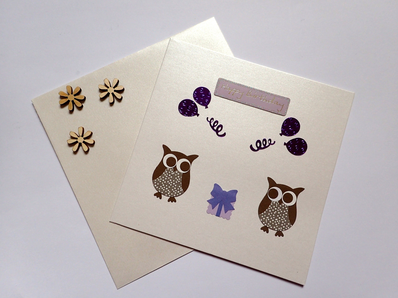 Handmade Owl Birthday Card Craft