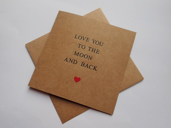 I Love You To The Moon /& Back Valentine/'s Day Greeting Card Lovely Cards