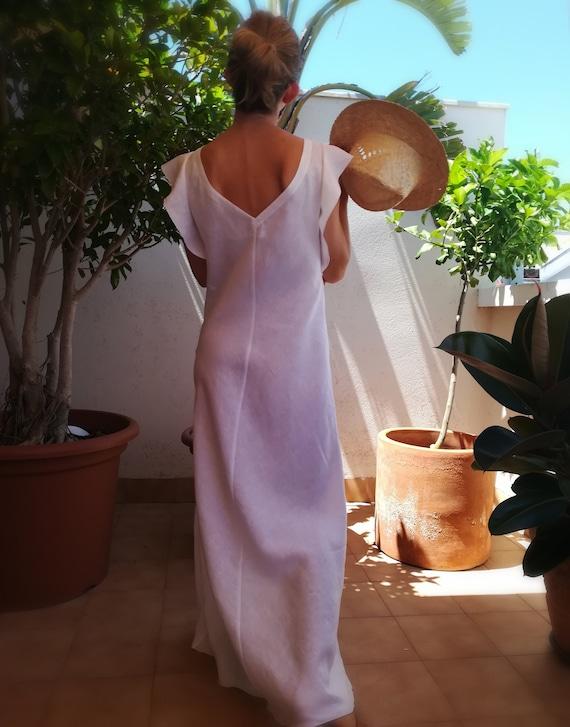 linen  FERN  bias dress kadrika Bias cut maxi dress
