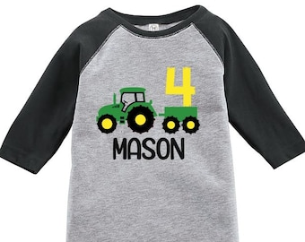 d6ef0fb9 Tractor Birthday Shirt, Tractor Shirt, Personalized Tractor Birthday Shirt