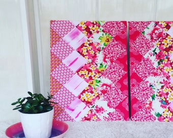 Diptych Picture Patchwork Pink / Fuchsia