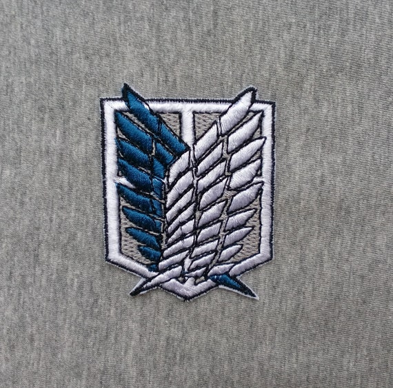 Attack On Titan Embroidered Patch Anime Geek Iron On Manga Etsy