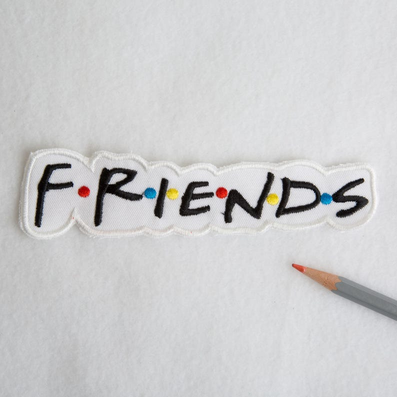 Friends patch Friends logo patch Retro patch Iron on patch 90s patches Bag patch Embroidered patch Mini patch Large patch FRIENDS ED9031
