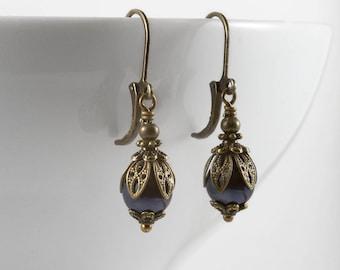 Ivory Pearl Edwardian Earrings Downton Abbey Earrings.