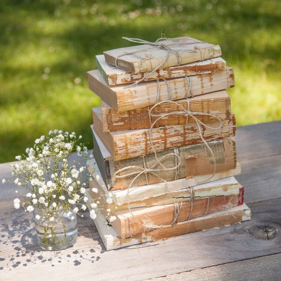 Set of 50 Unbound Books for Shabby Chic Wedding Decor, Wedding Centerpiece,  Uncovered Book, Farmhouse Decor, Rustic Wedding, Distressed Book