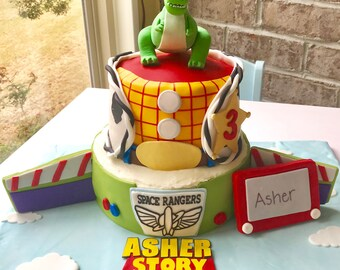 Toy Story Buzz Wings And Logo Fondant Cake Set