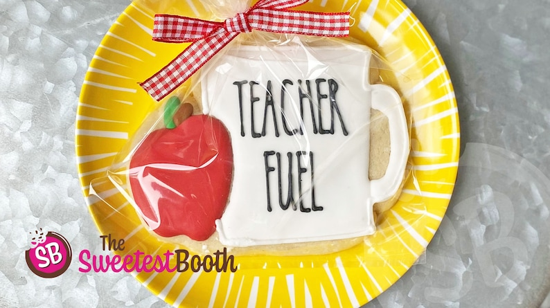 Back To School Teacher Fuel Custom Decorated Sugar image 0