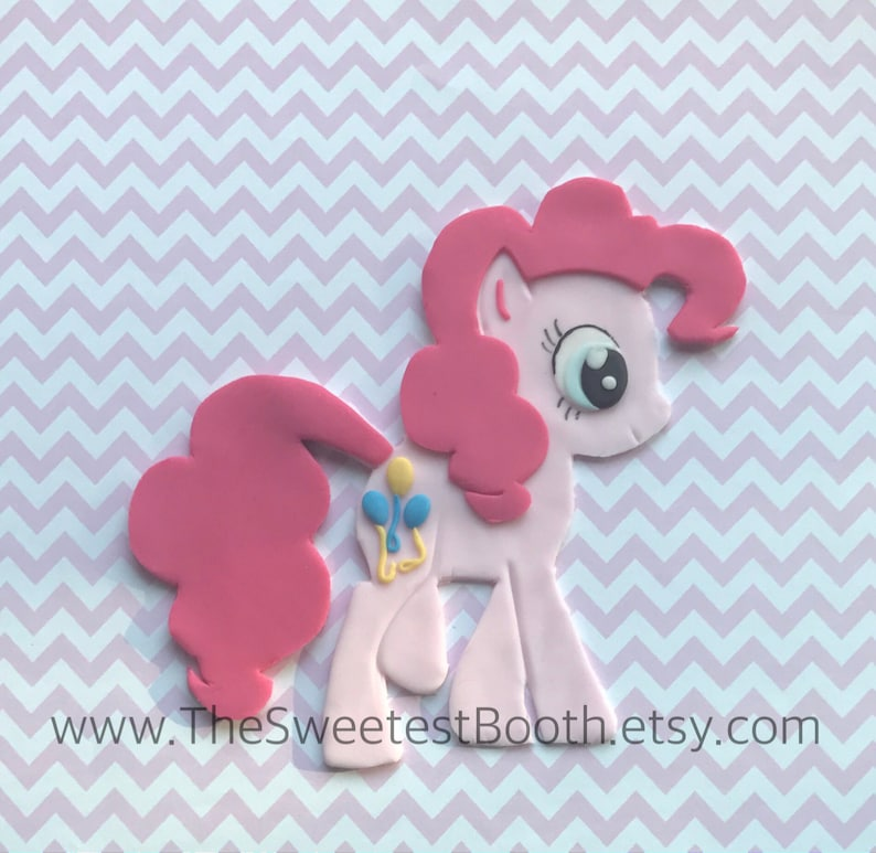 Pinkie Pie Birthday Cake Fondant Topper My Little Pony