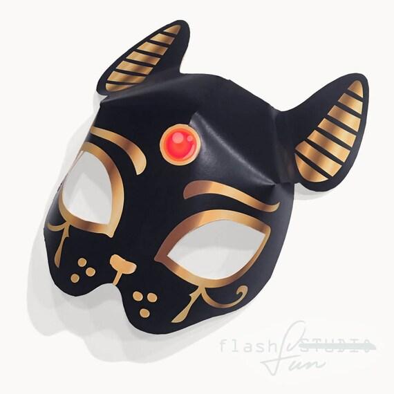 Adult Black Cat Bastet Egyptian Goddess Printable Mask
