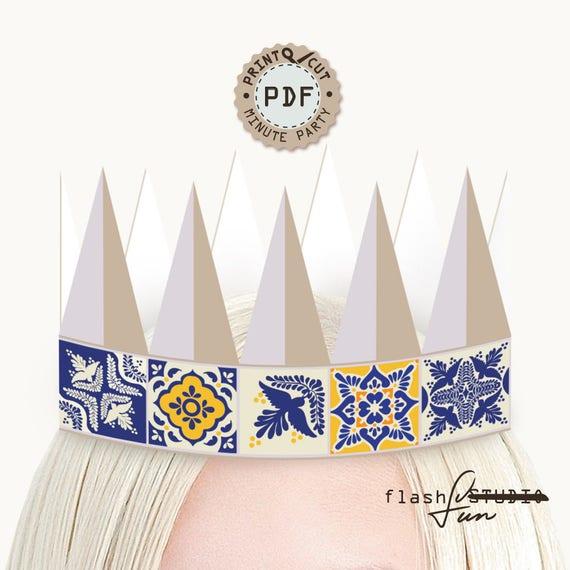 birthday crown mexican hat boho crown printable crown bachelorette party hat diy crown party hat printable party hat party crown