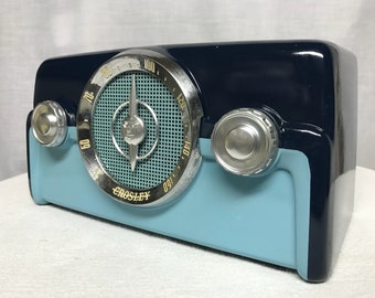 1950 Crosley 10-138 Vintage Retro Dashboard Tube Radio With Bluetooth Input