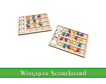 Wingspan Scoreboard   Wingspan Scoringboard   Wingspan Accessories and Upgrades   Goal and Objective Organization for Wingspan Boardgame
