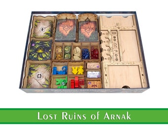 Lost Ruins of Arnak Organizer   Lost Ruins of Arnak Tabletop HDF Insert   Lost Ruins of Arnak Storage Solution   Unofficial Product