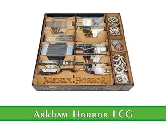 Arkham Horror the Card Game Organizer + Free Bag | Wooden insert for Arkham Horror LCG | Storage Solution | Arkham Horror LCG Upgrade + Bag