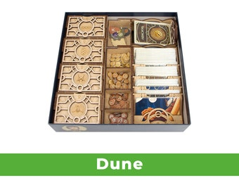 Dune Organizer + Expansion (Unofficial Product)  Wooden insert for Dune board game   Boardgame organizer for Dune