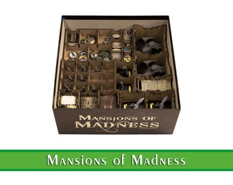 Mansions of Madness organizer | Wood insert for Mansion of Madness board game | Storage solution | Boardgame insert | Boardgame organizer