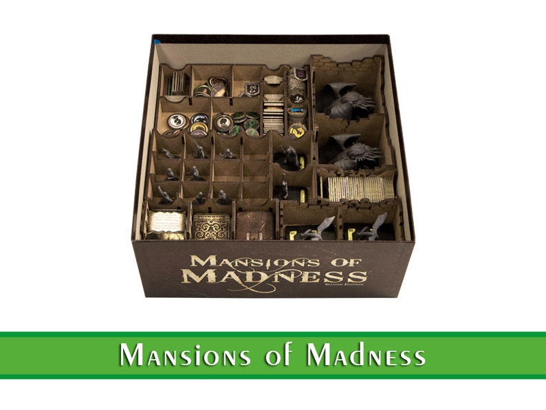 Mansion of Madness organizer  Wood insert for Mansion of image 0