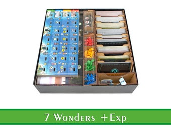 7 Wonders 2nd Edition + Expansions Organizer   7 Wonders 2nd Edition Tabletop HDF Insert   7 Wonders Storage Solution   Unofficial Product