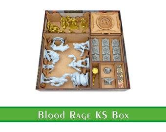 Blood Rage KS 2019 organizer   Wood insert for Blood Rage board game   Storage solution   Boardgame insert   Boardgame organizer