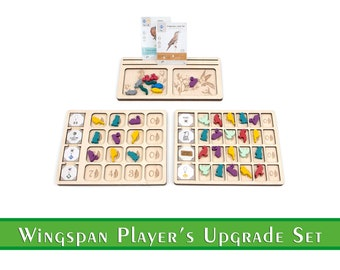 Wingspan Player Upgrade Set   Wingspan Playerboard   Wingspan Accessories and Upgrades   Organization for Wingspan Boardgame