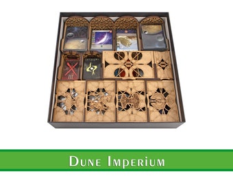 Dune: Imperium Organizer with 4 Playerboards (Unofficial Product)  Wooden insert for Dune Imperium board game   Boardgame organizer for Dune