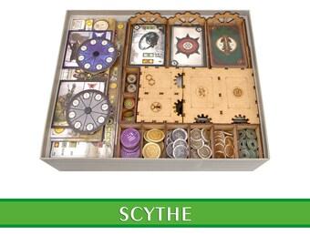 SCYTHE organizer | Wood insert for SCYTHE board game + Invaders from Afar exp | Storage solution | Boardgame insert | Boardgame organizer