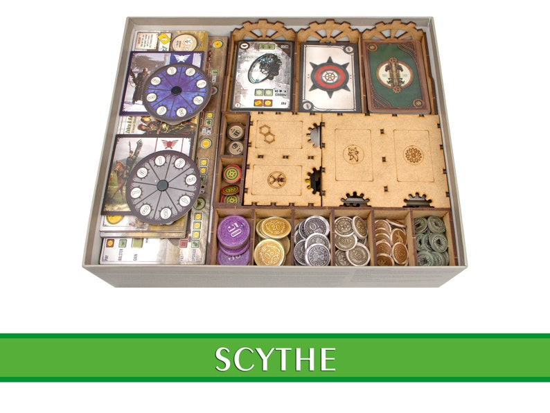 SCYTHE organizer  Wood insert for SCYTHE board game  image 0