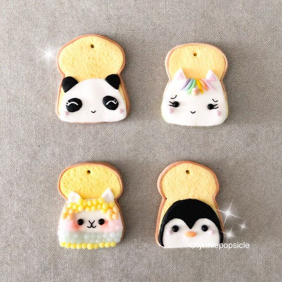 Image of: Miniature Image Miniaturesweet Kawaii Animal Toast Charm Polymer Clay Charms Kawaii Charms Etsy
