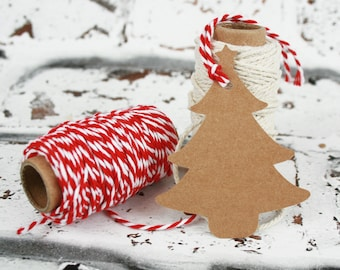Christmas Gift Tags - Rustic Gift Tags - Holiday Tags - Blank Gift Tags - Brown Kraft Gift Tags