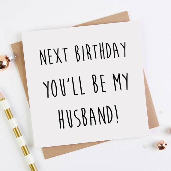 Husband Birthday Card Fiance Card Cute Love Card Next Etsy