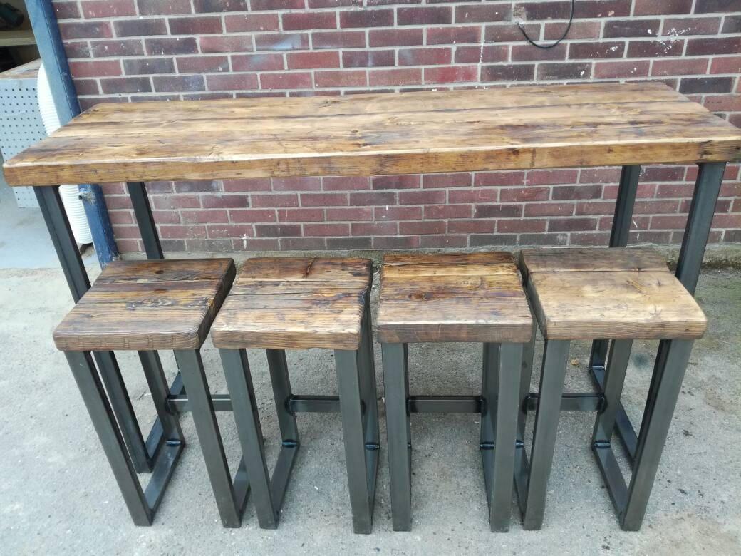 Industrial style high bar table | Etsy