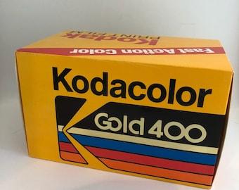 Vintage Large Kodak Film Box Kodacolor Gold 400 35mm Advertising Store Display Empty