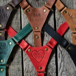 Personalized leather suspenders Monogram wedding suspenders best men braces groom suspenders Groomsmen gift retro wedding party gift rustic