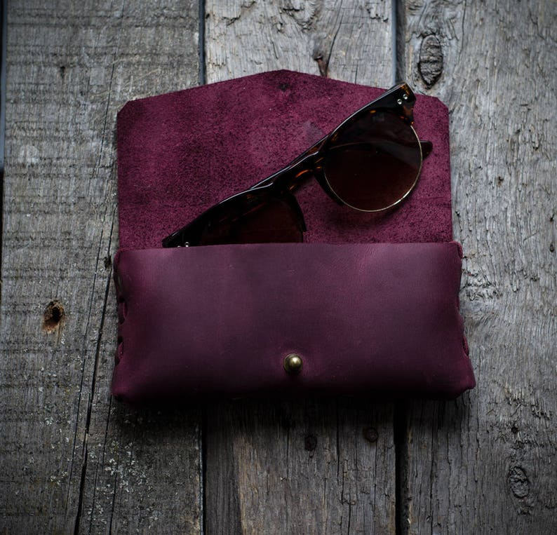 080f72836616 Leather Eyeglass Case leather Sunglasses Case Glasses Case Eye
