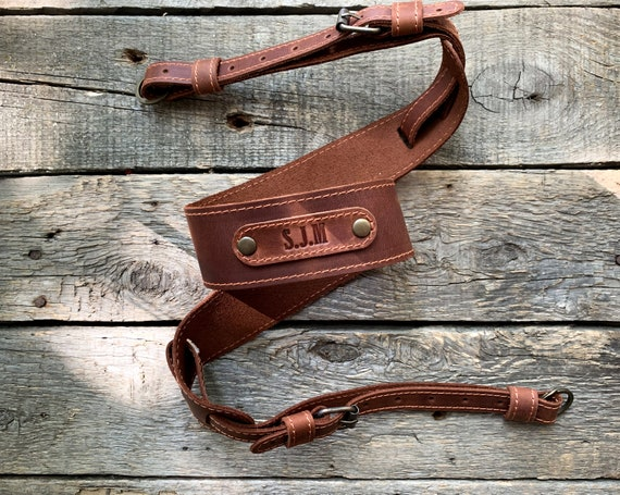 personalized Leather Camera Strap DSLR Camera strap monogram photographer gift for him gift her anniversary Neck strap Camera Accessories