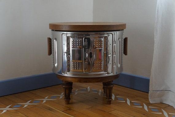Meuble Tambour Machine A Laver Et Chene Vieilli