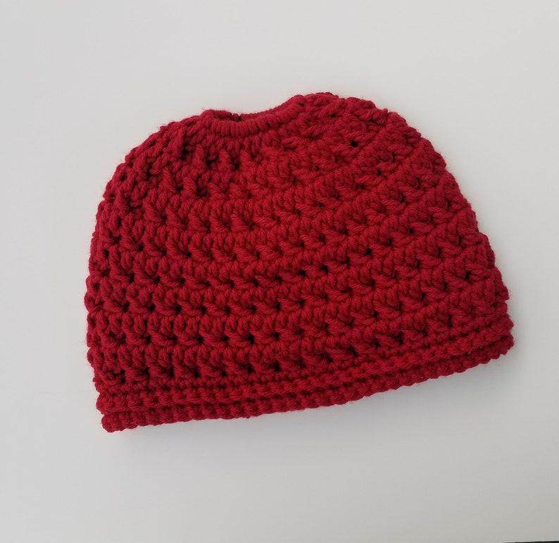 107d6e48 Messy bun hat ponytail hat   Etsy