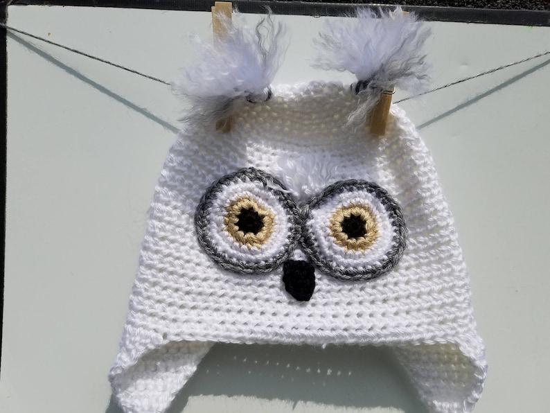 Owl Hat Owl Beanie Crochet Owl Hat Etsy