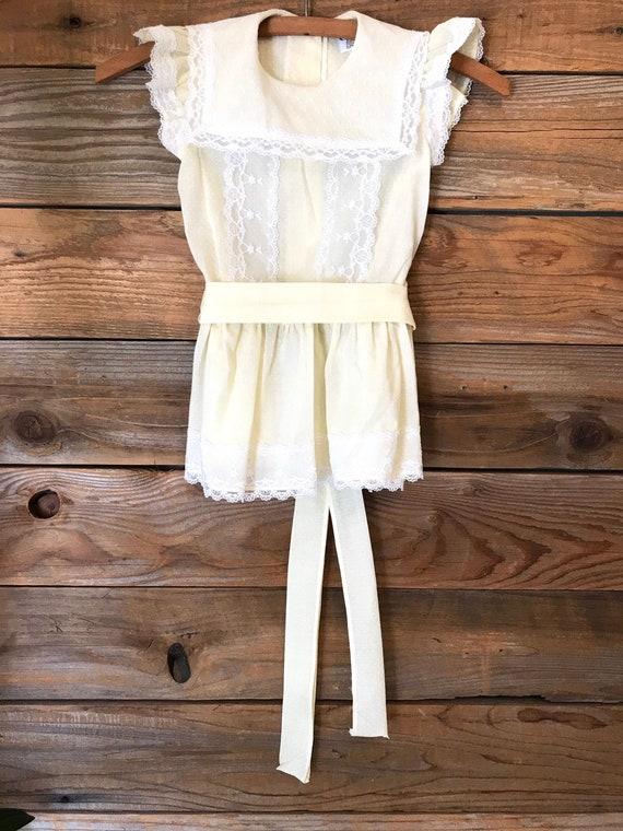 Vintage Toddler Dress - 80s Pale Yellow Cinderella