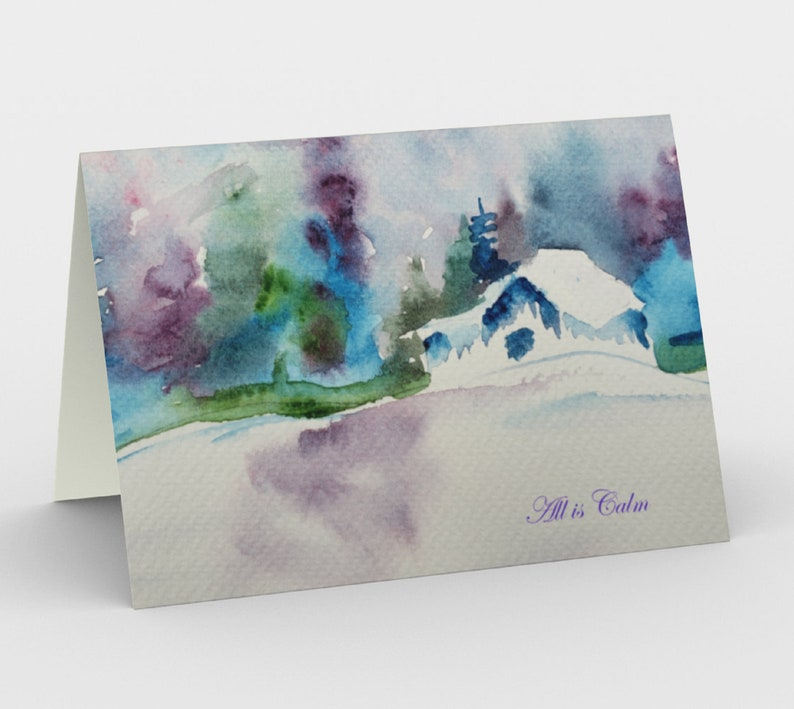 Cabin in the Woods holiday cards Set of 3 from original image 0