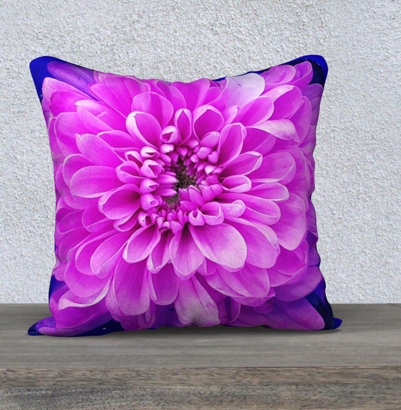 Floral Pillow Cover original photo of Dahlia blooms choice image 0