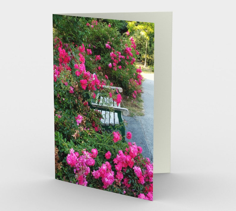 Sympathy memory card 1 or a set of 3 flower card from image 0