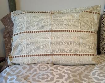 Standard Pillow Case. Math. Months. Back to School. Poem. Teacher.