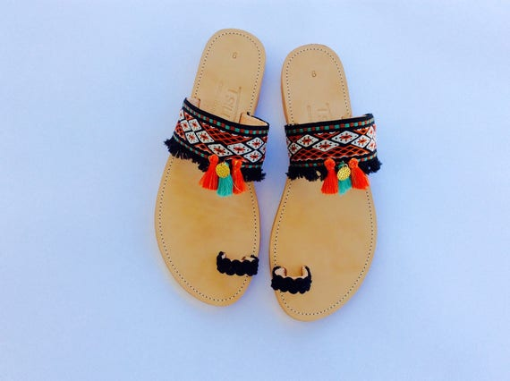 Summer Sandals Festival Sandals Leather Boho Hippie Sandals Boho Sandals Gypsy Bohemian Greek Sandals Chic Sandals Shoes Look Ethnic q8qvAnt