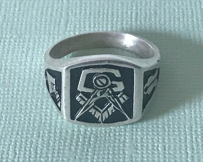 b016bf080837e Sterling silver masonic ring, 925 Sterling silver Masonic rong, Freemason  ring, sterling silver 925 masonic ring, FATAL, silver mason ring