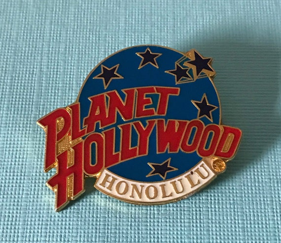 Vintage Planet Hollywood pin, Planet Hollywood col